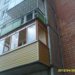 Отделка балкона в кирпичном доме в Нижнем Новгороде