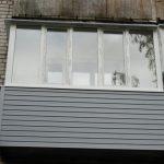 Остекление балкона ПВХ-профилями