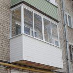 Балкон с алюминиевым остеклением в Нижнем Новгороде
