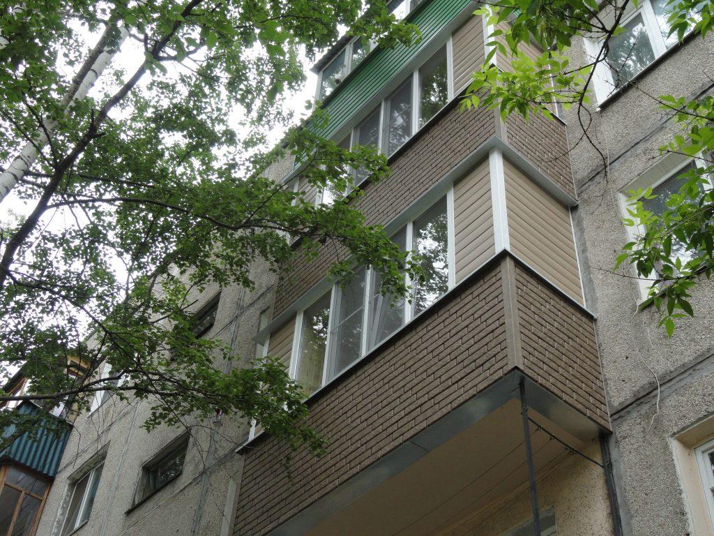 Отделка 2 соседских балконов в Нижнем Новгороде