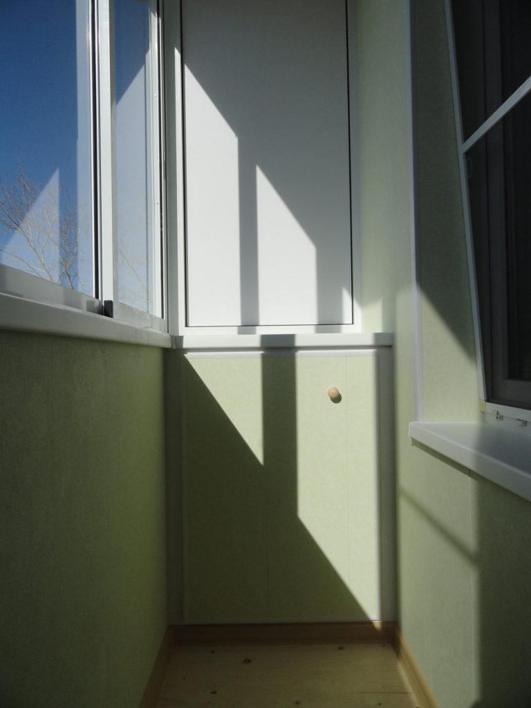 Отделка балкона ламинированными панелями в Нижнем Новгороде
