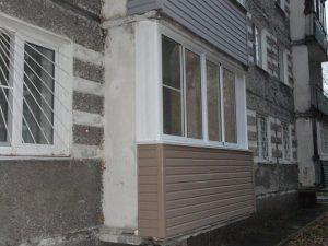 Остекление сложного балкона